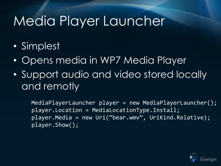 Media Player Launcher