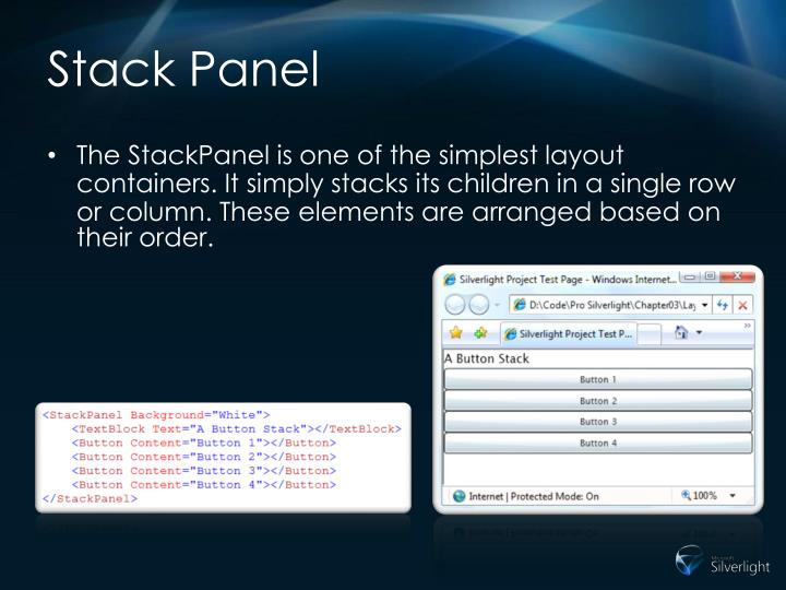 Stack Panel