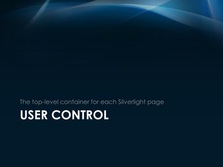 User control