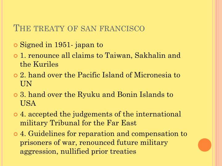 The treaty of san