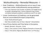 multicollinearity remedial measures i
