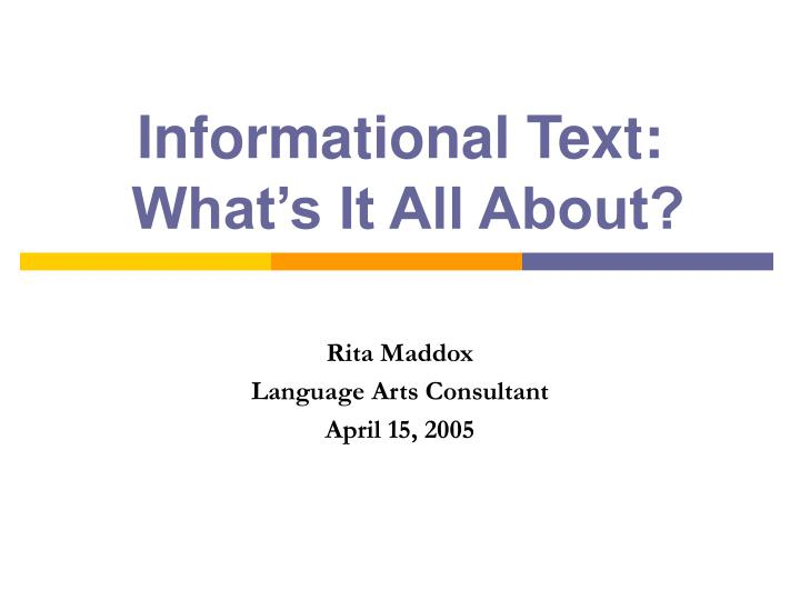 informational text what s it all about n.