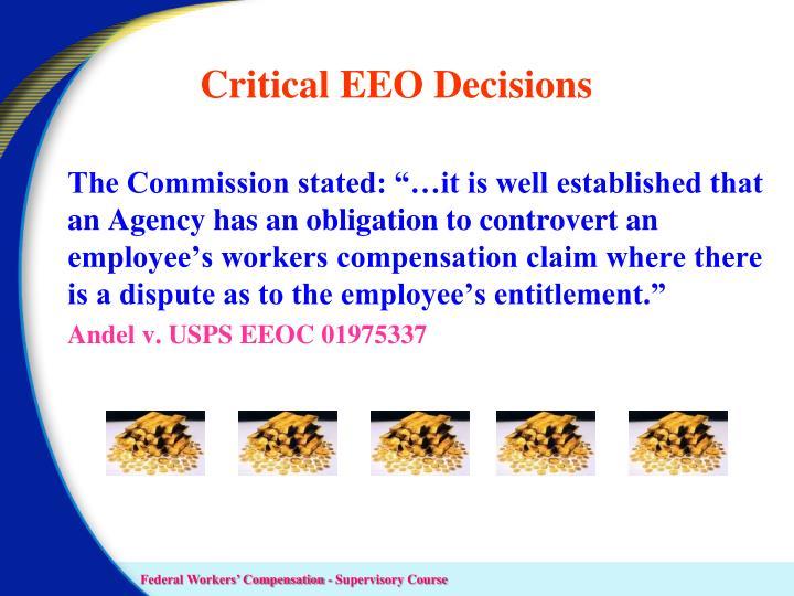 Critical EEO Decisions