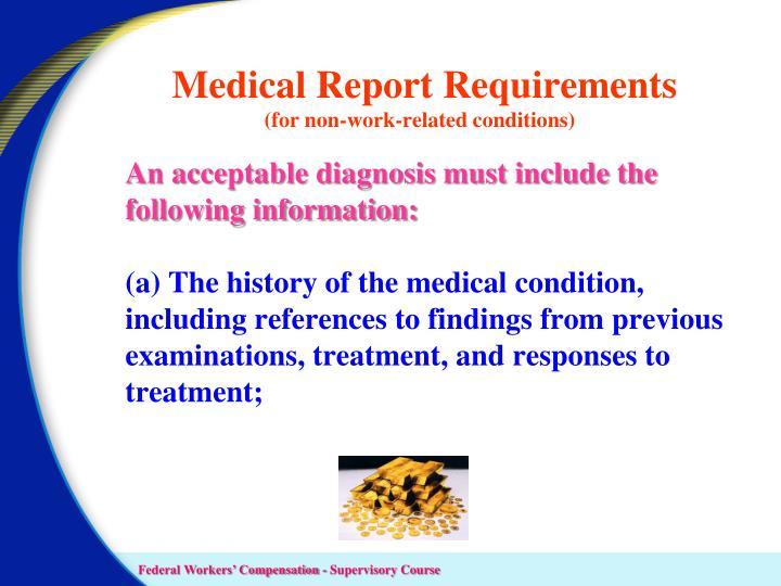 Medical Report Requirements