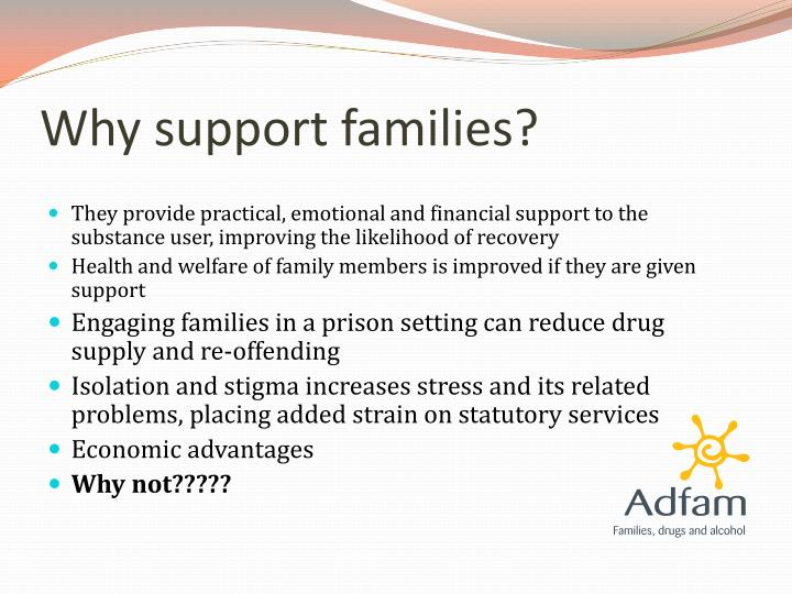 Why support families?