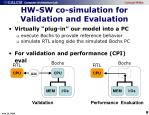 hw sw co simulation for validation and evaluation