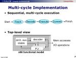 multi cycle implementation