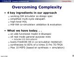 overcoming complexity