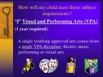 how will my child meet these subject requirements5
