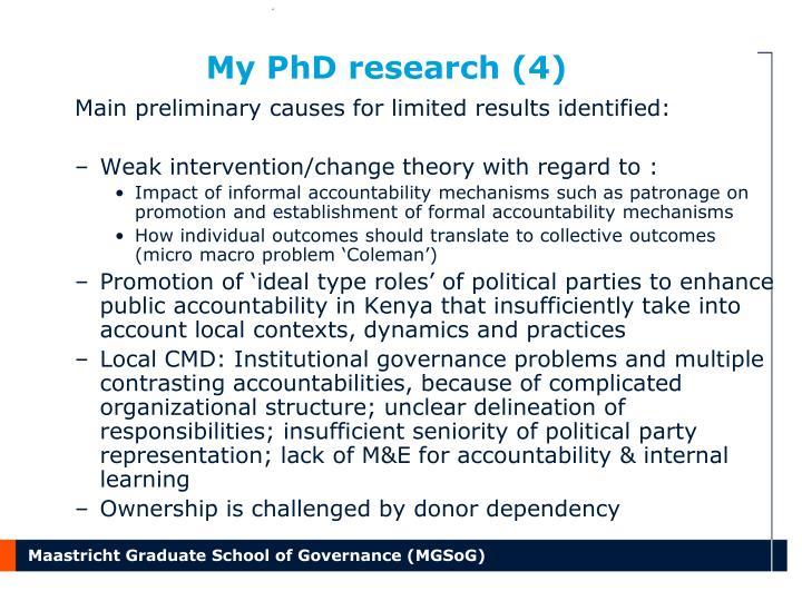 My PhD research (4)