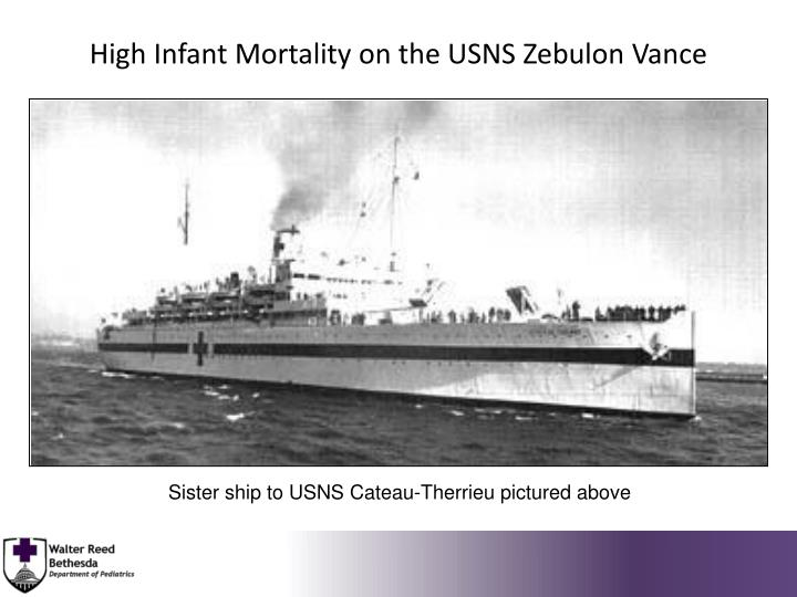 High Infant Mortality on the USNS Zebulon Vance
