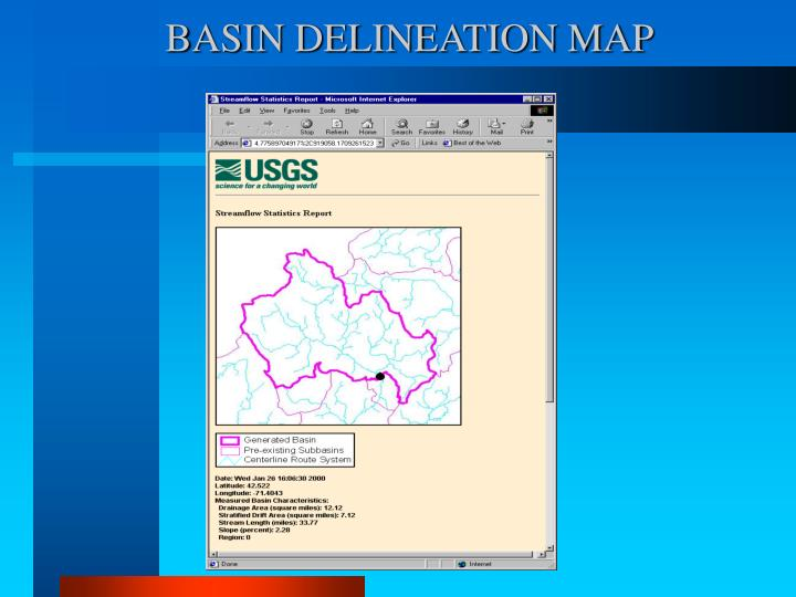BASIN DELINEATION MAP