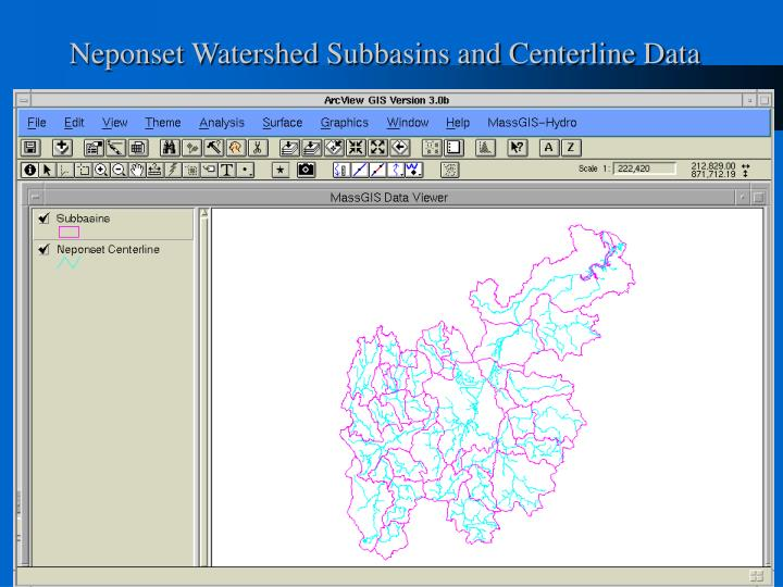 Neponset Watershed Subbasins and Centerline Data