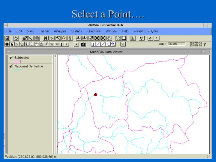 Select a Point….
