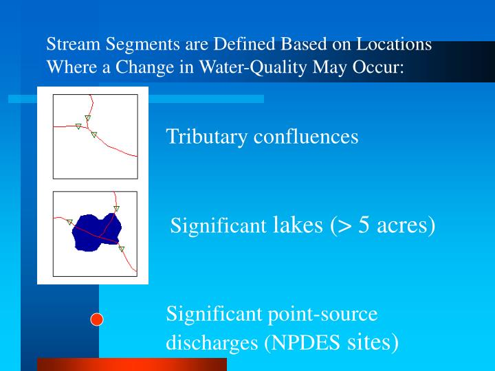 Stream Segments are Defined Based on Locations Where a Change in Water-Quality May Occur: