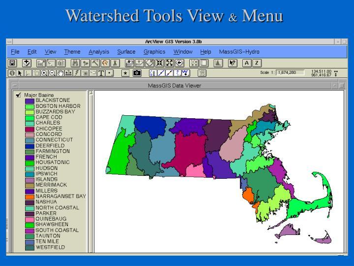 Watershed Tools View