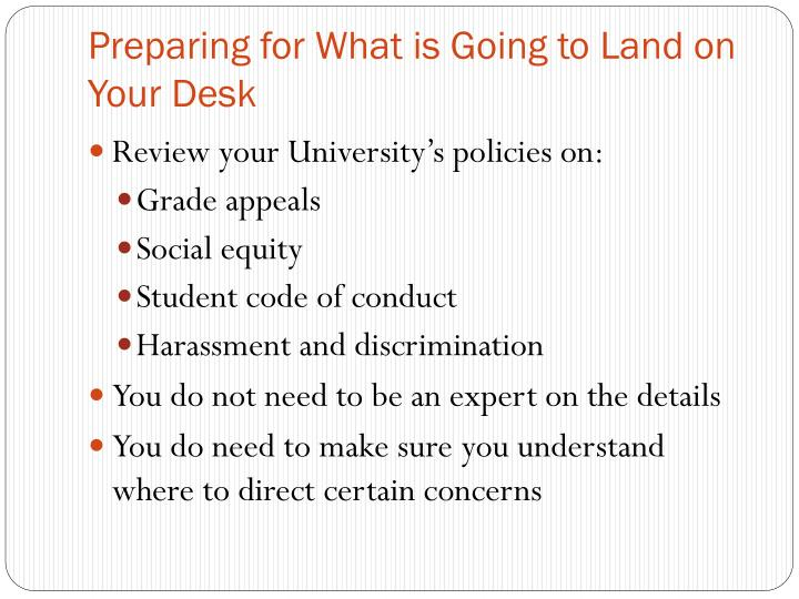 Preparing for What is Going to Land on Your Desk