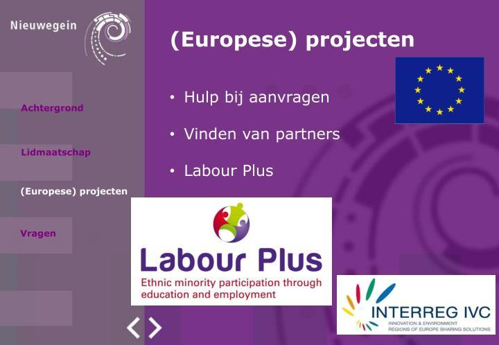 (Europese) projecten