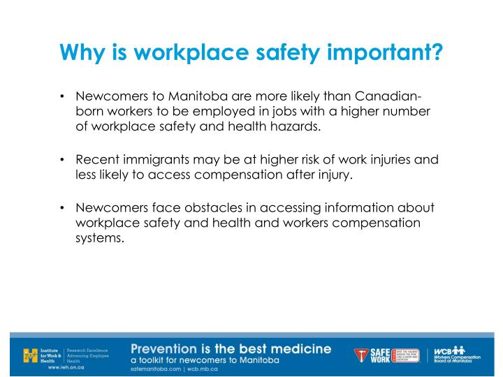 Why is workplace safety important?