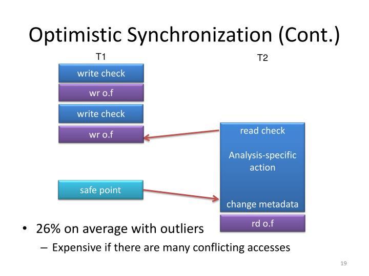 Optimistic Synchronization (Cont.)