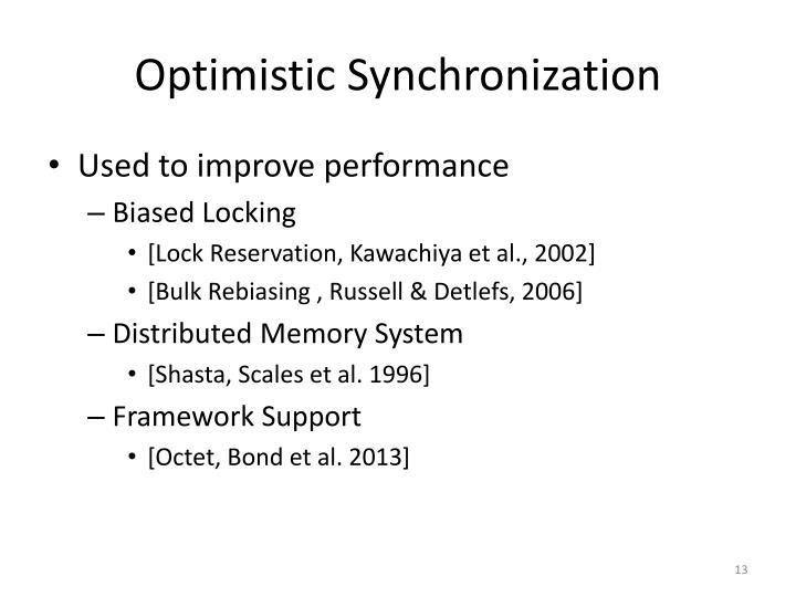 Optimistic Synchronization