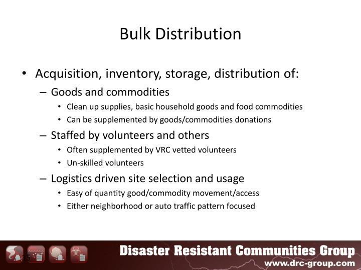 Bulk Distribution