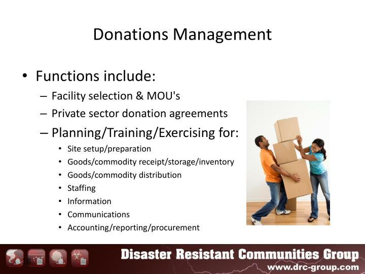 Donations Management