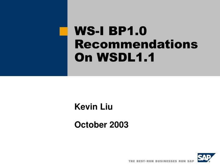Ws i bp1 0 recommendations on wsdl1 1
