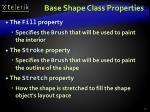 base shape class properties