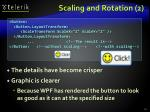 scaling and rotation 2
