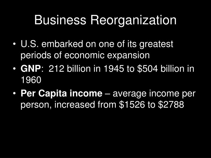 Business reorganization