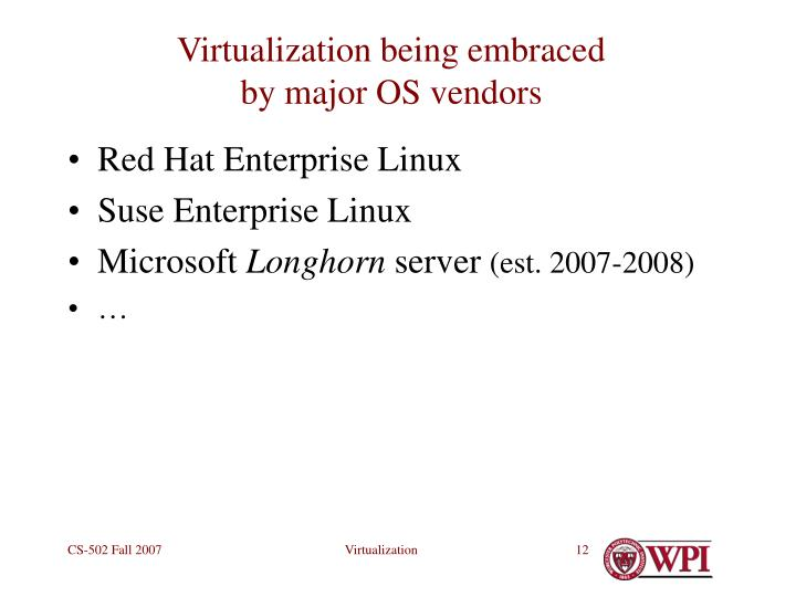 Virtualization being embraced