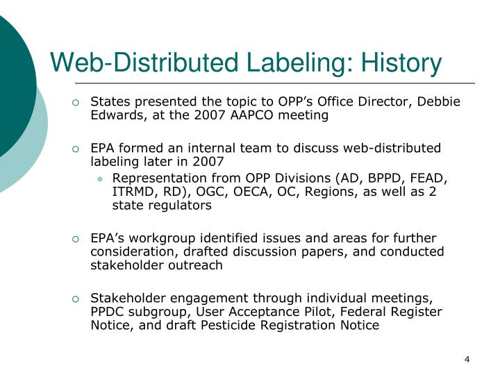 Web-Distributed Labeling: History