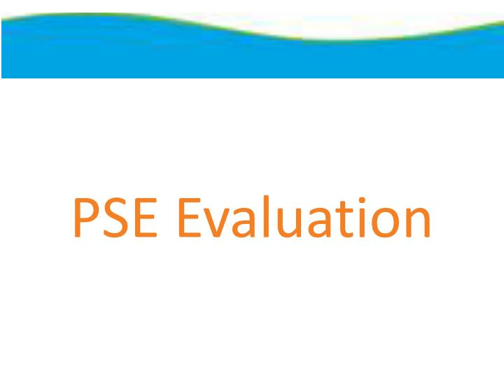 PSE Evaluation