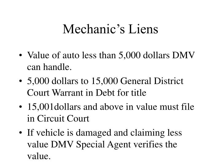 Mechanic's Liens