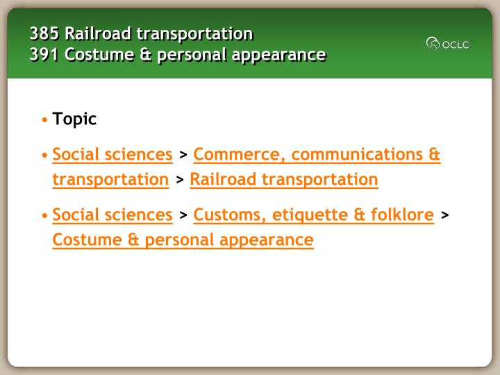 385 Railroad transportation