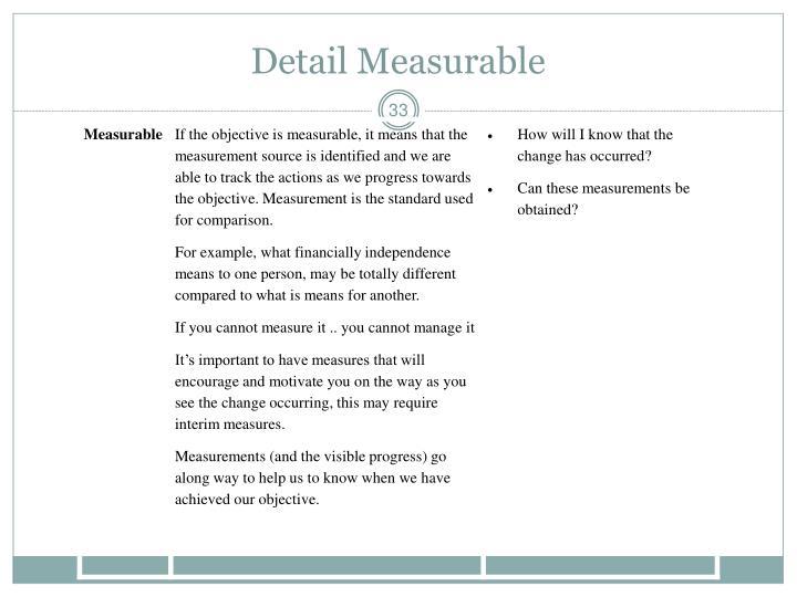 Detail Measurable
