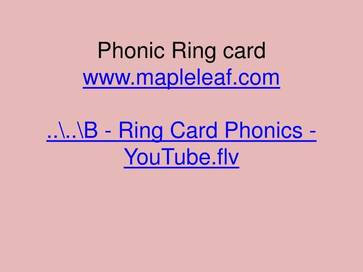 Phonic Ring card