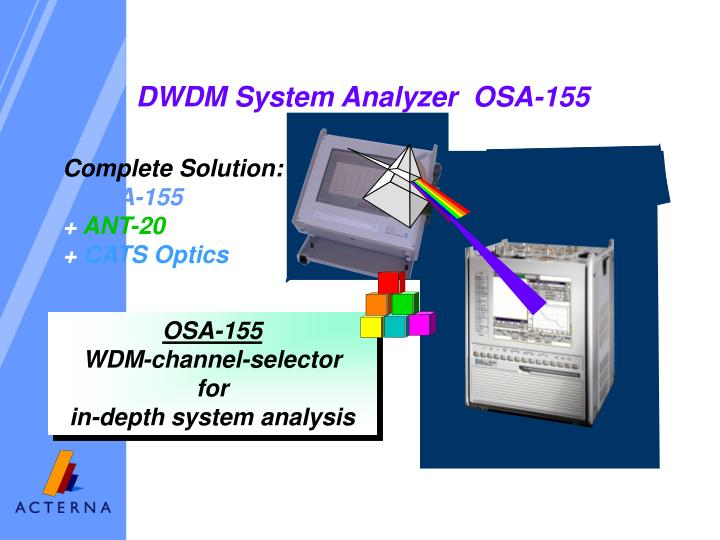 DWDM System Analyzer  OSA-155