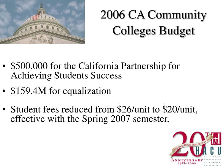2006 CA Community Colleges Budget