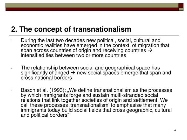 2. The concept of transnationalism
