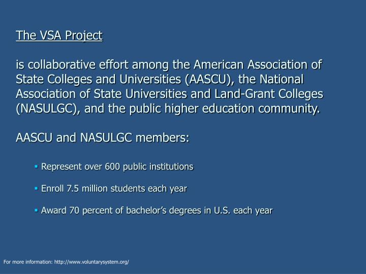 The VSA Project