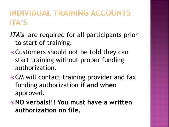 Individual Training Accounts