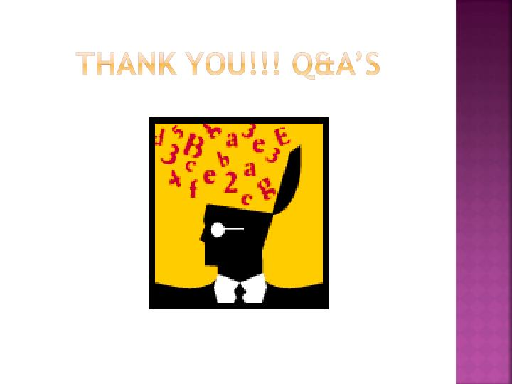 Thank You!!! Q&A's