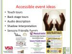 accessible event ideas
