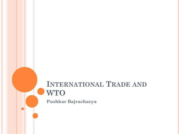 international trade and wto n.