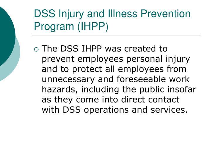 DSS Injury and Illness Prevention Program (IHPP)