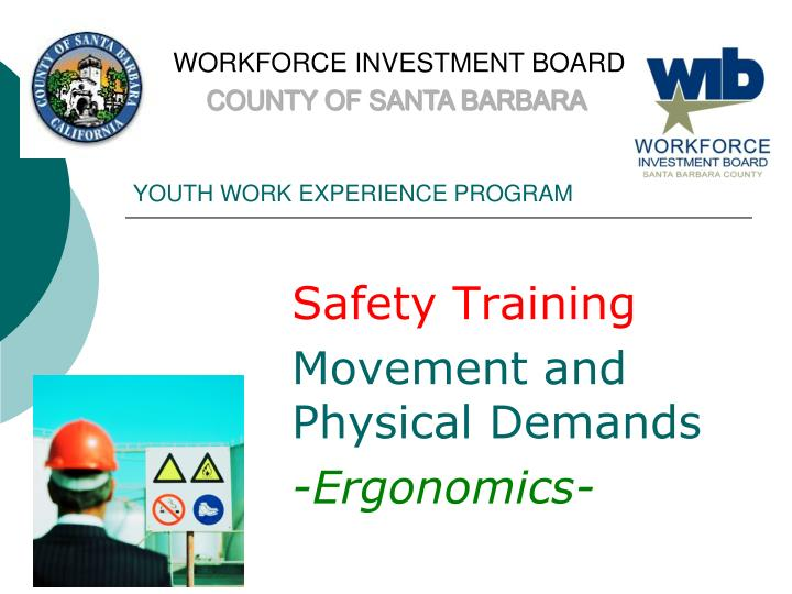 Youth work experience program1