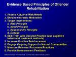 evidence based principles of offender rehabilitation