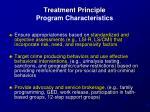 treatment principle program characteristics1